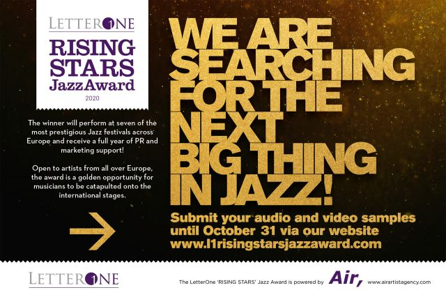 The new season of the 'LetterOne Rising Stars Jazz Award' Europe edition is opened